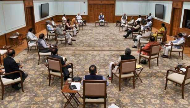 202003251426131591 Tamil News Ministers practice social distancing at cabinet meet SECVPF