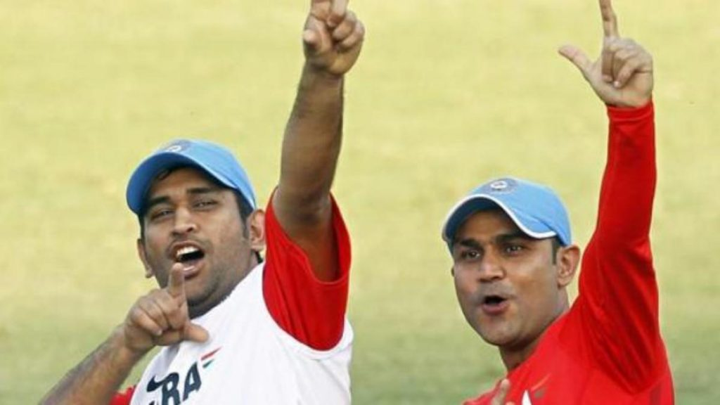 Sehwag and Dhoni 0