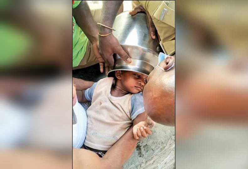 a-3-year-old-boy's-head-was-caught-in-a-pot