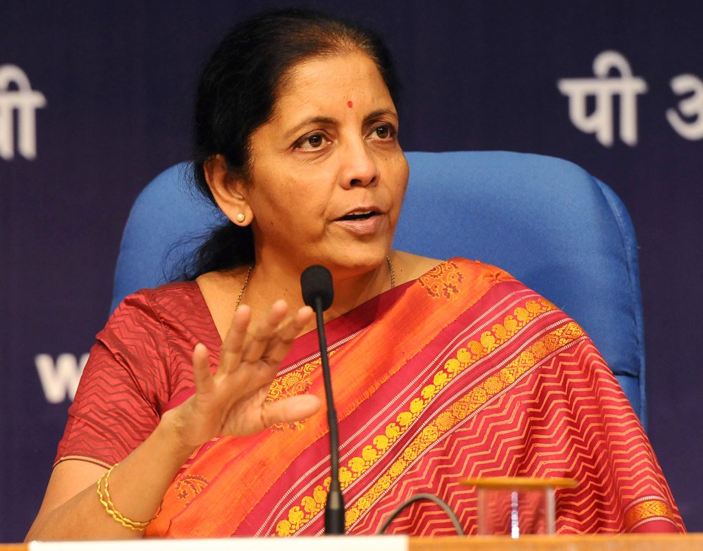 The Minister of State for Commerce  Industry Independent Charge Smt. Nirmala Sitharaman addressing a press conference in New Delhi on October 14 2016
