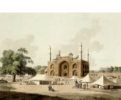 Gate of the Tomb of Akbar at Sikandra Agra India 1795