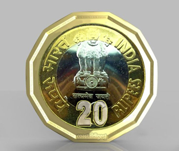 20 rupees coin