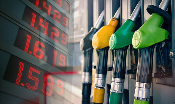 petrol diesel fuel prices UK 1022494